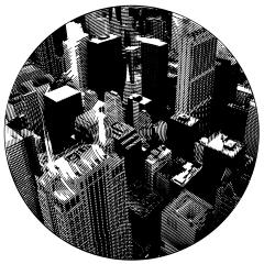 Chicago. Cutout Mat Board. 31 inches diameter . 2020