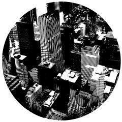 Chicago 2. Cutout Mat Board. 31 inches diameter . 2020