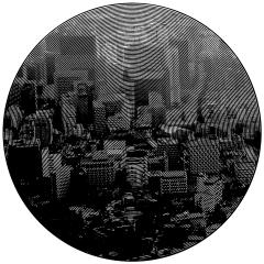 Seoul. Cutout Mat Board. 31 inches diameter . 2020